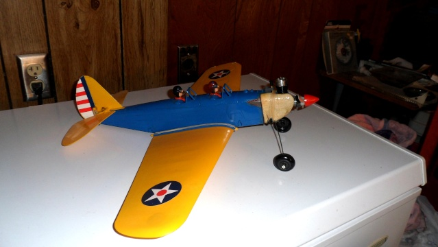 """Super PT-19 !!  IT FLYS !!!!!  (or, """"How I Test the Tensile Strength of Spider Wire !!) Pt-19_11"""