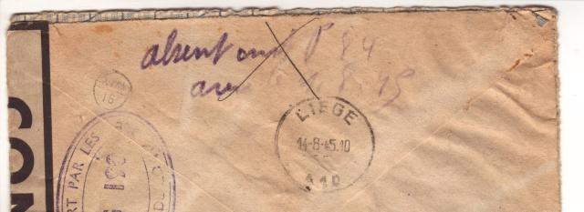 censure de la 3°période AG 190  sur lettre de Liège pour Paris. 5_x10