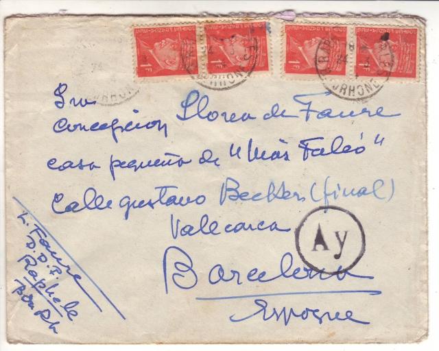 Encore Nancy, cette fois un cachet de passage sur lettre de Raphele pour Barcelone _1000110