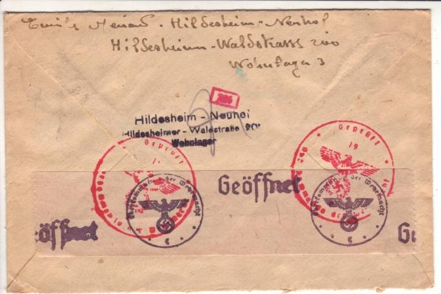 Censure allemande, bande de Cologne utilisée à Francfort/M en 1944 ! _1010