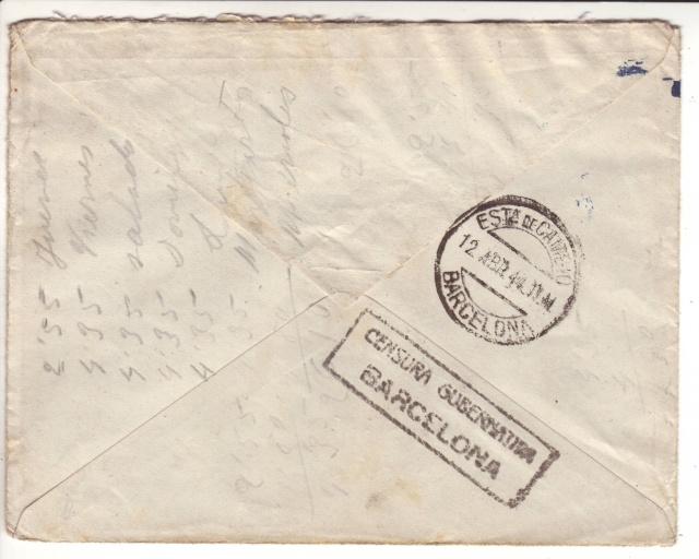 Encore Nancy, cette fois un cachet de passage sur lettre de Raphele pour Barcelone _2000110
