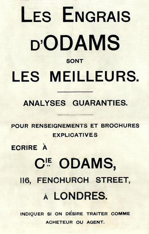 Plomb d'un sac d'engrais de la marque ODAMS. D7982a10