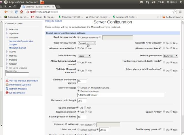"""Un coup d'oeil sur """"Webmin"""" un serveur web bien utile ! Captur12"""