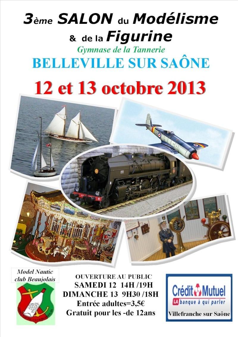 Salon du Modelisme et de la Figurine de Belleville/Saone 12 et 13/10/2013 Affich11