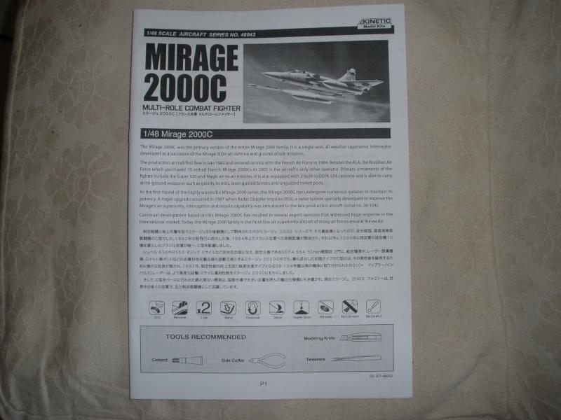 Revue de kit Mirage 2000-C Kinetic 1/48. P4210215