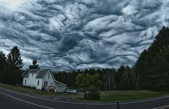 Asperatus: une formation nuageuse sublime et rarissime Cloud110
