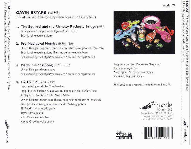 Musique à coucher dehors [playlist] Bryars11