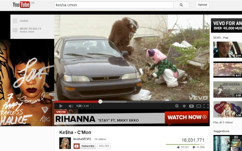 Spotted in music vids/films Kesha_10
