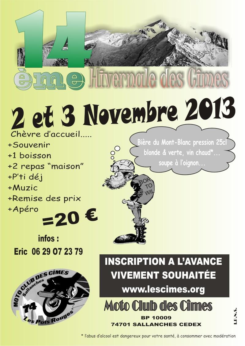 2&3 Novembre 2013 - 14ème concentre des Cîmes Affich11