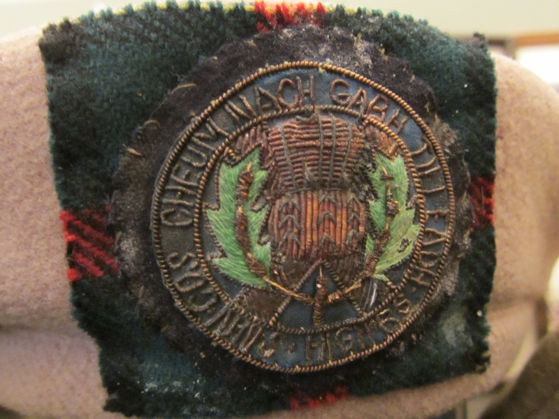 North Nova Scotia Highlanders officers hat badge plus a few other items. Img_0616