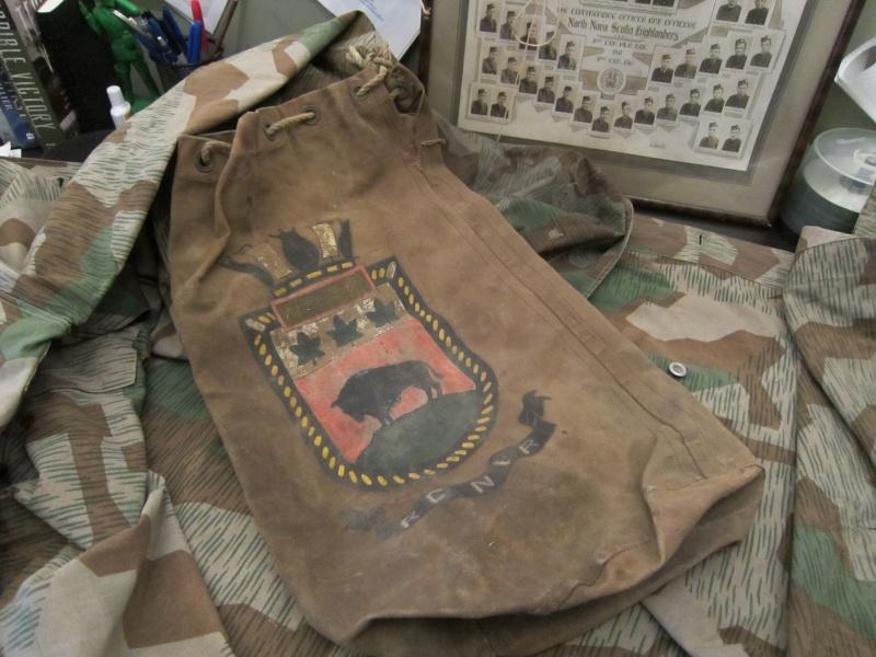 Navy Kit Bag with Artwork Img_0629
