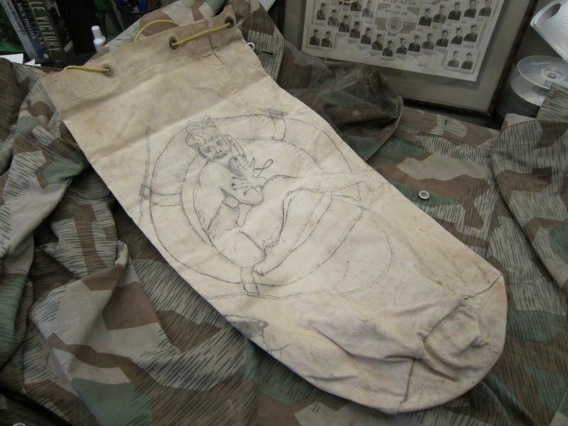 Navy Kit Bag with Artwork Img_0631