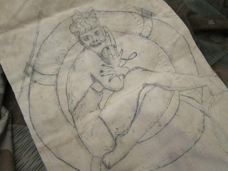 Navy Kit Bag with Artwork Img_0632