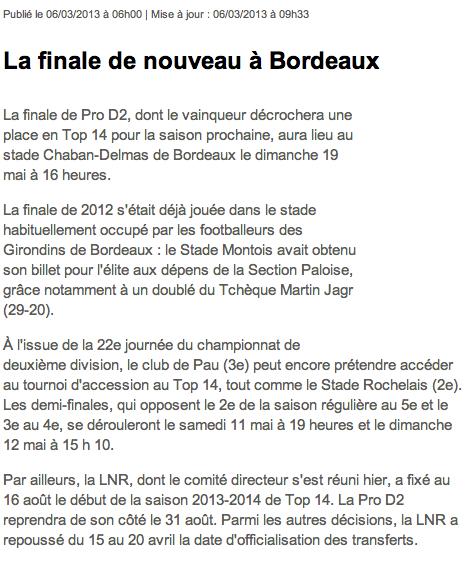 Finale de Pro D2 à Chaban Image_11