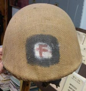 Iraqi M80 Helmet with marked burlap cover Iz_hel10