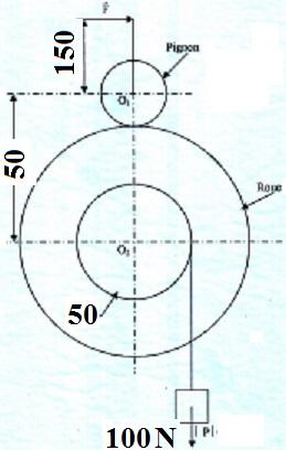 Hauteur de levage d'un corps avec un systeme d'engrenage Exo_3-11