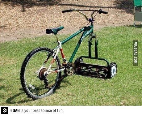 Le vélo tondeuse. Tondeu10