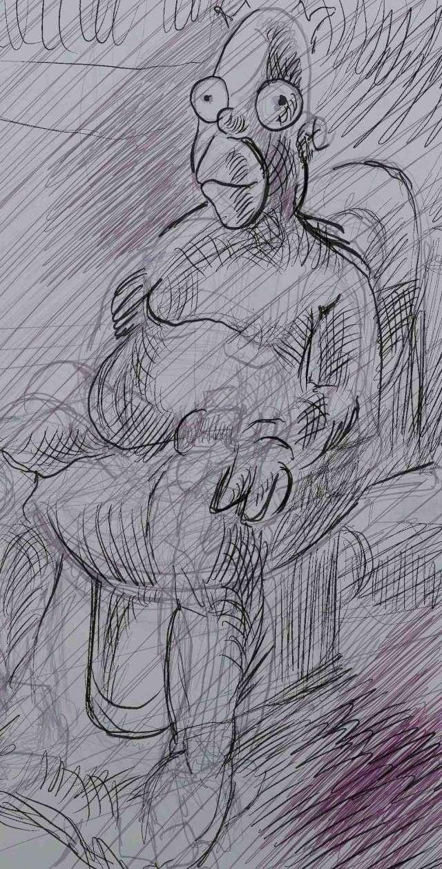Croquis et autre - Page 5 Homer_13