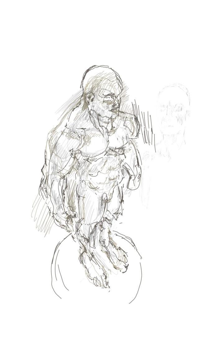 Croquis et autre - Page 6 Statue12