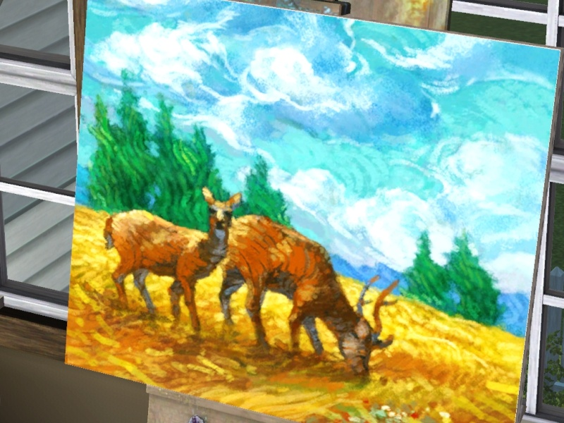Brush Strokes - What's your Sim Painting? - Page 2 Scree157