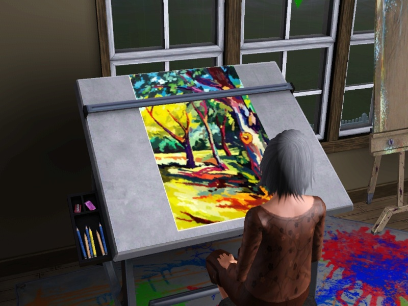 Brush Strokes - What's your Sim Painting? - Page 2 Scree160