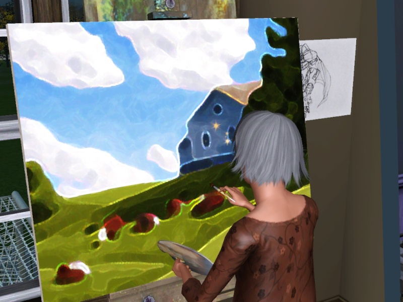Brush Strokes - What's your Sim Painting? - Page 2 Scree162