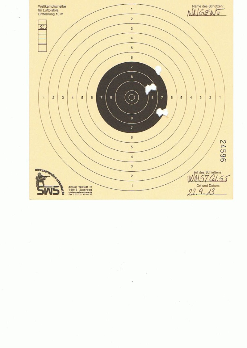 "Test Plombs DIANA ""Sport"" sur HW 57 Cal.5,5  7,5 Joules 20m10"