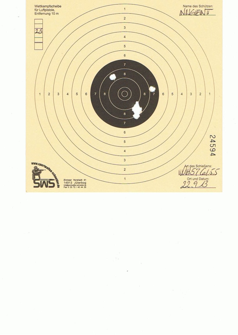"Test Plombs DIANA ""Sport"" sur HW 57 Cal.5,5  7,5 Joules 25m10"