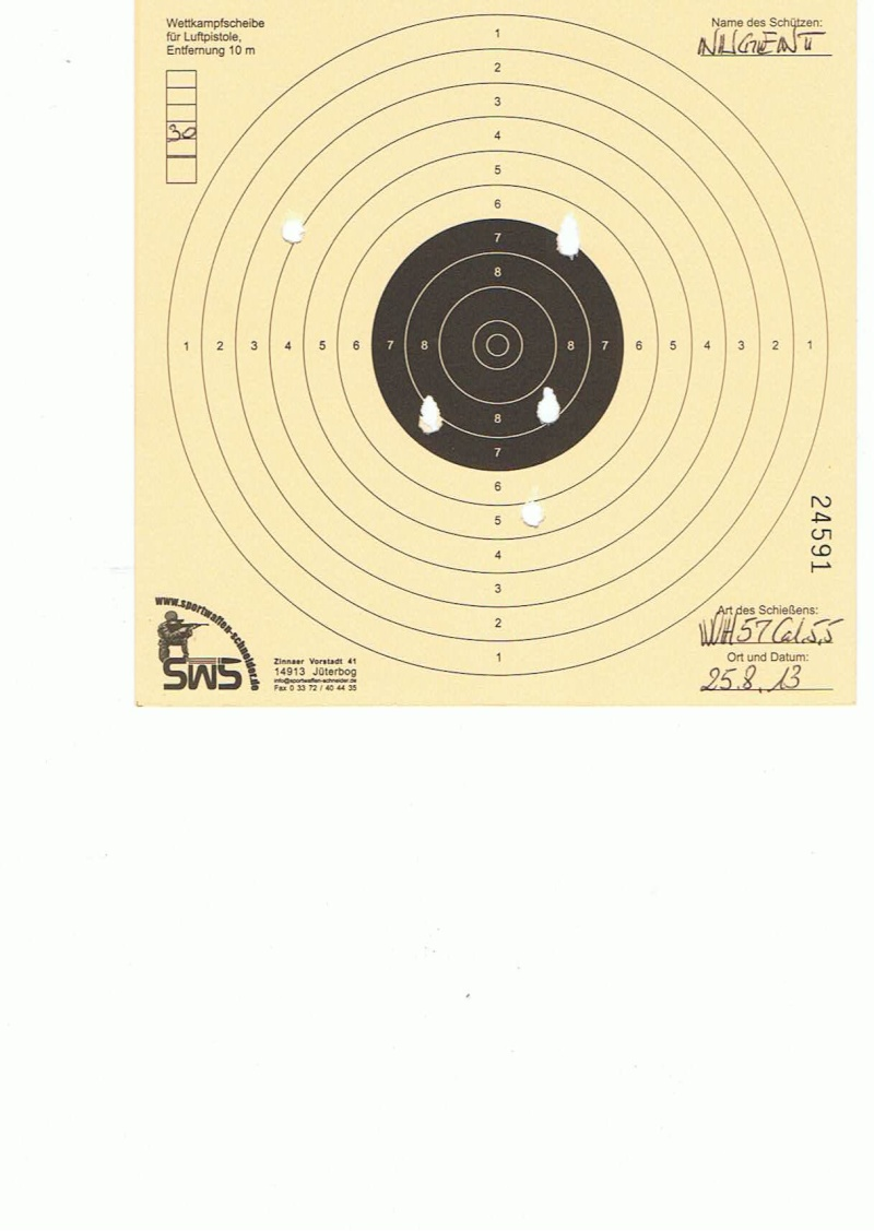"Test Plombs DIANA ""Sport"" sur HW 57 Cal.5,5  7,5 Joules 30m10"