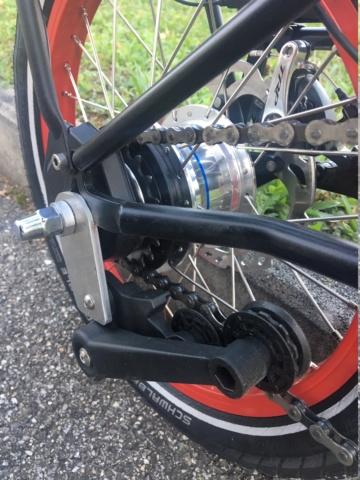 Réalisation bob60: Alfine 11 DI2 avec pneus BigApple sur triangle et fourche Kinetics Img_9915