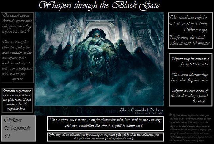 What We Know So Far - Ritual magic Winter11