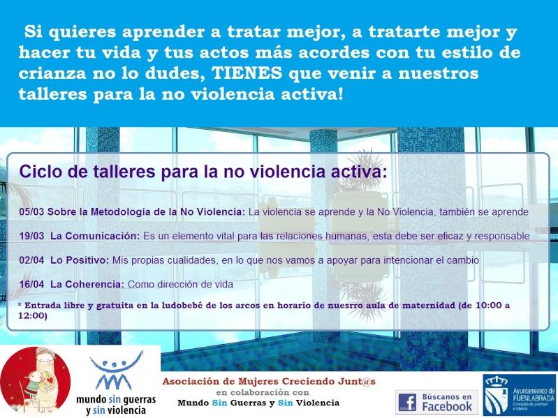Ciclo de talleres para la no violencia activa Cartel11
