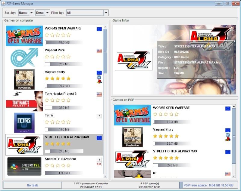 Gérer ses jeux PSP avec PSP Game Manager Pspgm10