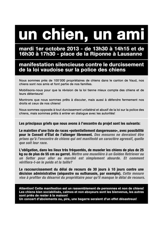 Manifestation contre la nouvelle loi drastique sur les chiens SUISSE - Page 2 13753110