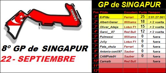 8- GP de SINGAPUR