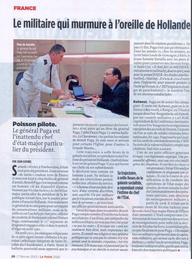 PUGA: le militaire qui murmure à l'oreille de Hollande Puga_g11