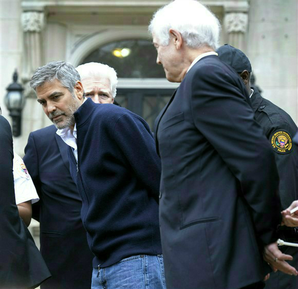 George Clooney arrested in Washington DC, March 2012 - Page 6 Cloone18