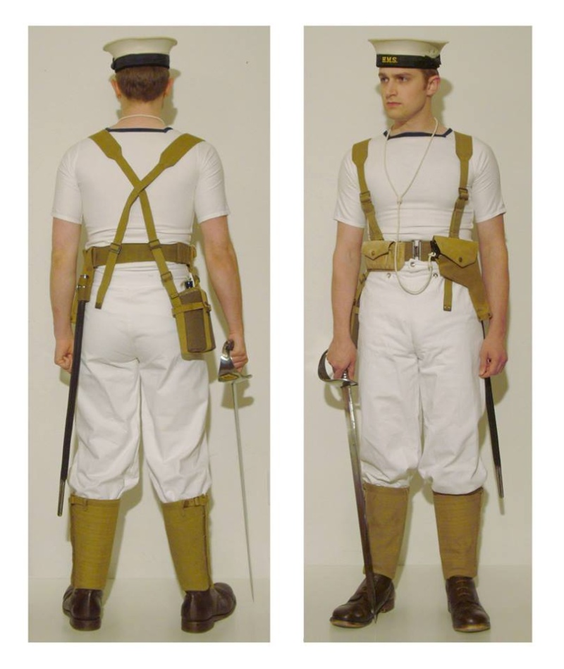 Pattern 1919 Naval Pistol & Cutlass Webbing Aden_110