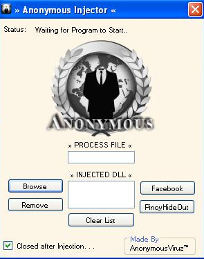 Anonymous Injector v1 (My First VB Project) Screen13