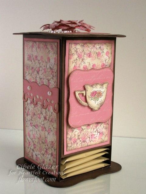 чайная коробочка из картона Jqbdyr10