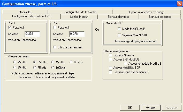 Demarrage CNC 6040 Config11