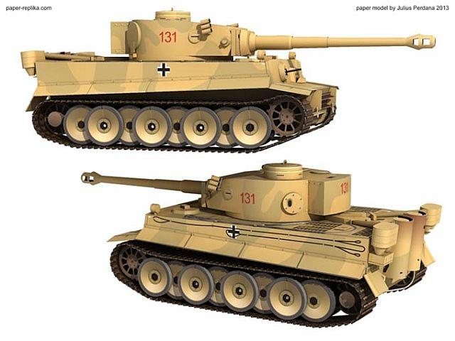 Paper-Replika - Tiger 1 in 1/35 kostenloser Download Kartonmodell Tiger-10