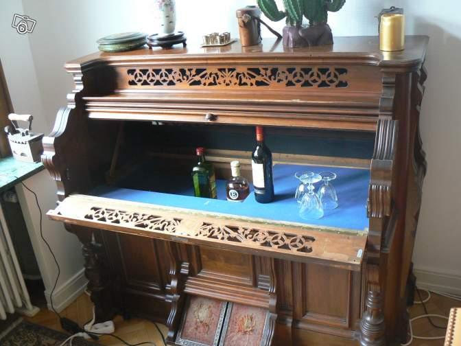 Un harmonium transformé en bar... en vente sur Le Bon Coin Harmon10