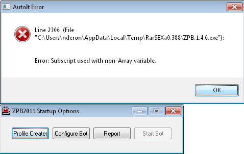Bot error wont start 12314h12