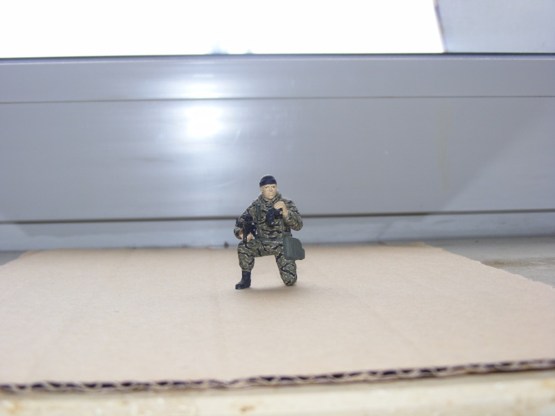 Einzelner Soldat im Spezial Forces Vietnam Tigerstripe Tarnanzug 1:35 Dscf0910
