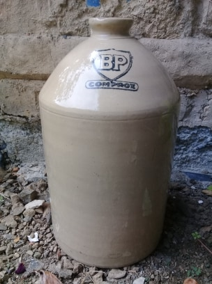Timaru Potteries BP demijohn 86267010