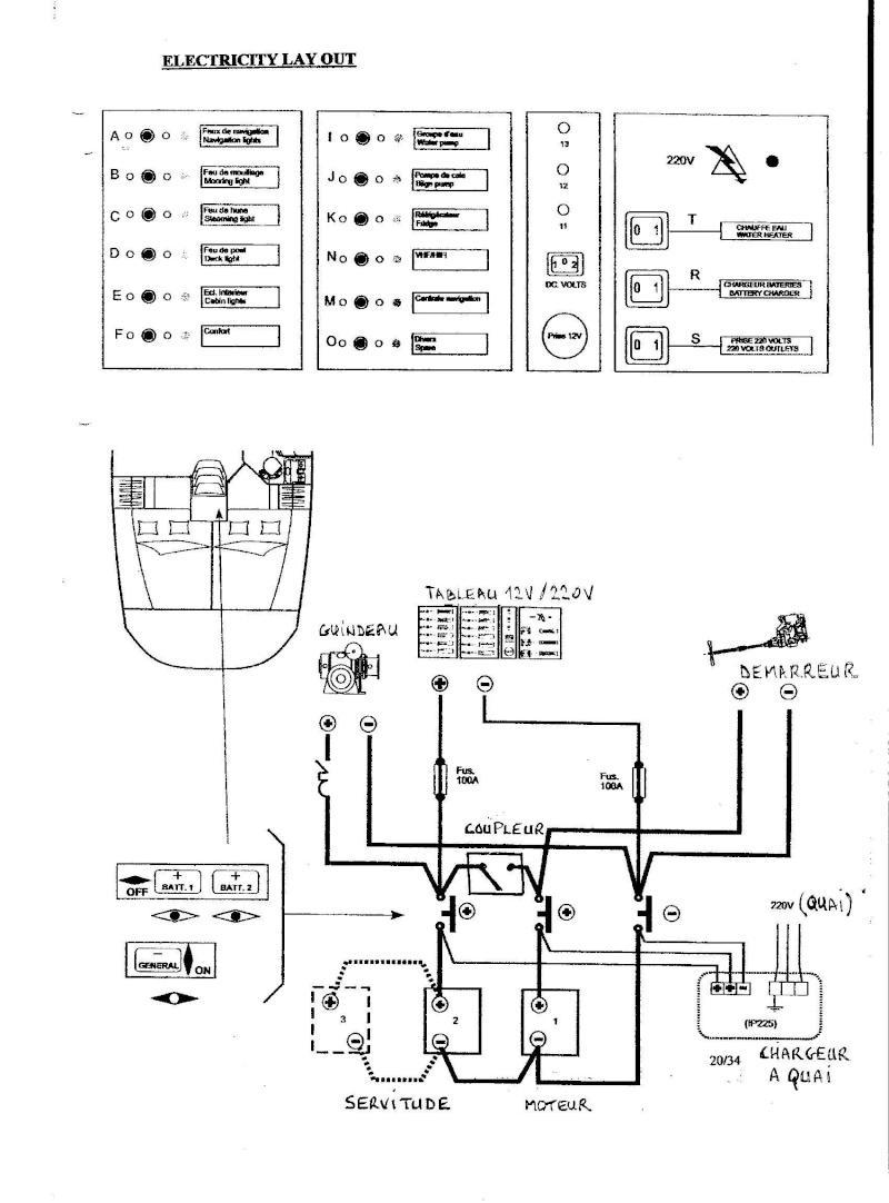 batteries - Oceanis 361 / Circuit Batteries Plan_e10