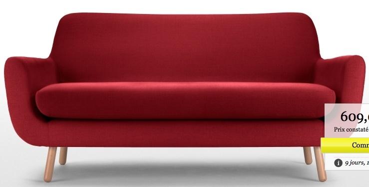 Petit salon, choix canapé, table basse et chaise, vintage Captur10