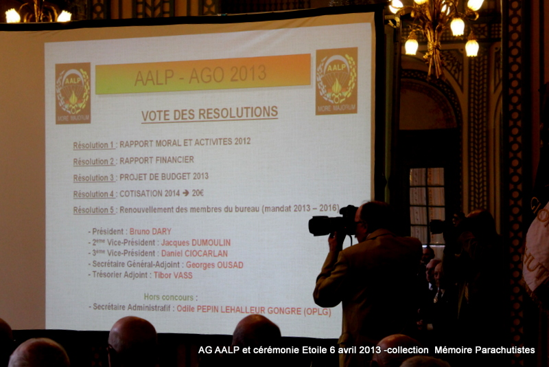 AG de l'AALP - Amicale des Anciens Légionnaires Parachutistes -INVALIDES - ETOILE Img_6819