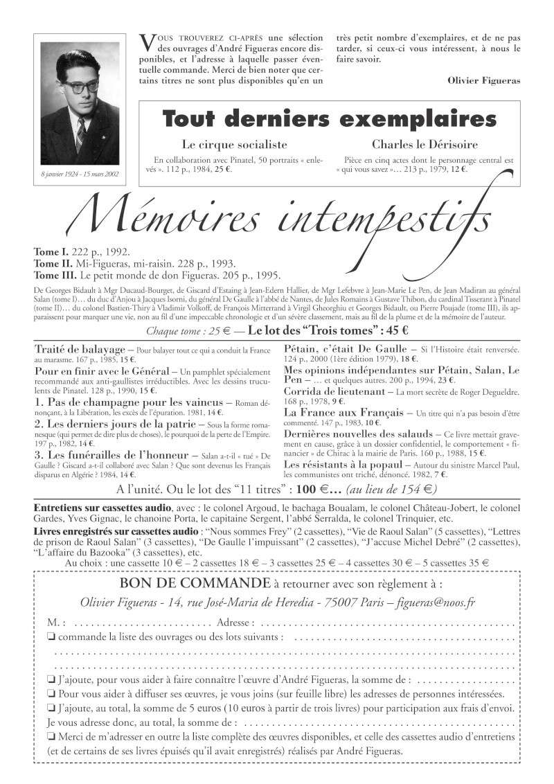 MEMOIRES INTEMPESTIFS d'André Figueras Memoir10